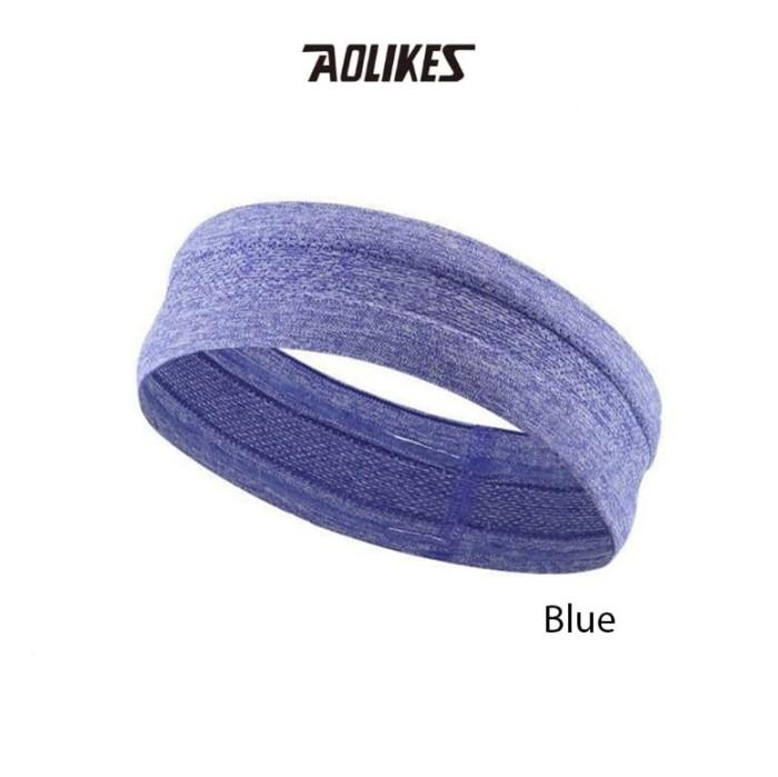 harga Aolikes 2103 silicon headband sweatband sport running - blue Tokopedia.com