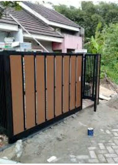 Jual Pintu Pagar Rumah Motif Woodplank Kota Bekasi Citralas