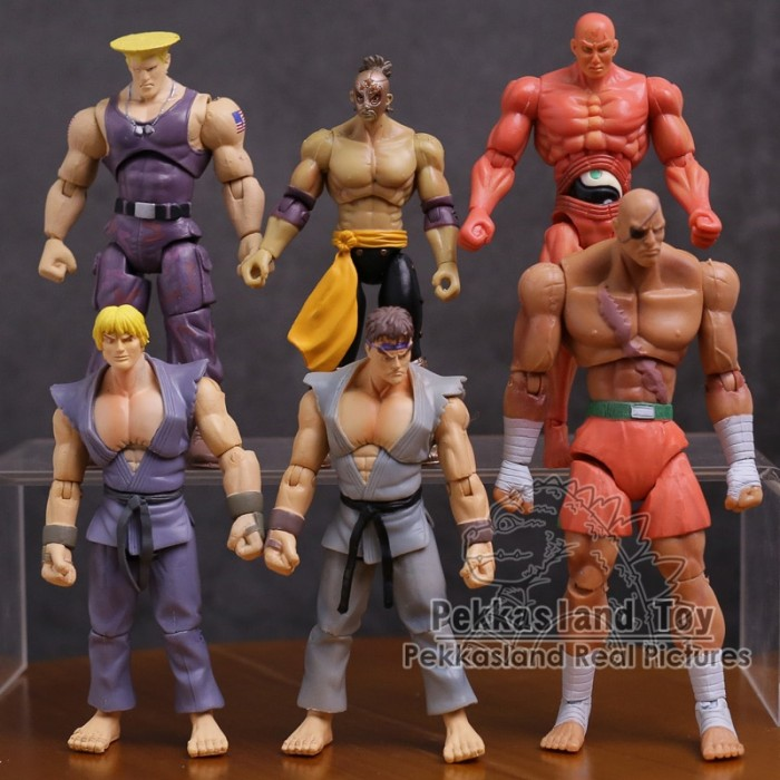 Jual Laris Action Figure Street Fighter 4 Ryu Ken Sagat Guile El