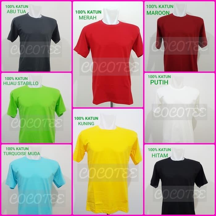Kaos Wanita ELPITI Kaos Polos Jumbo Size / Big Size Katun Combed 20s