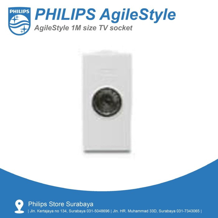 harga Philips agilestyle 1m tv socket - televisi stop kontak 5-850mhz (part) Tokopedia.com