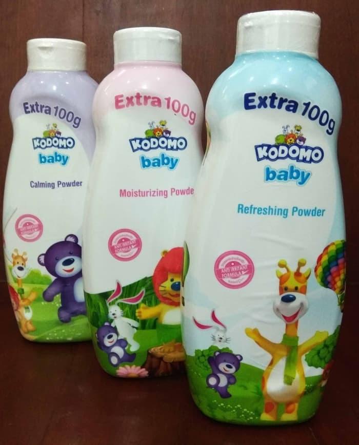 Kodomo Baby Powder / Bedak Bayi Biru / Pink / Ungu 300 gr + 100 gr