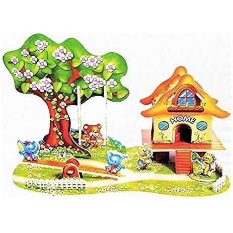 Nixnox Mainan Edukasi 3D Puzzle Mini Romantic Cabin 934 - SKUOL00056-4