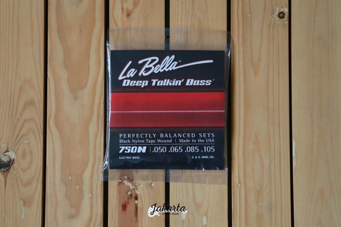 harga La bella 4 50-105 black nylon tapewound deep talkin bass strings/senar Tokopedia.com