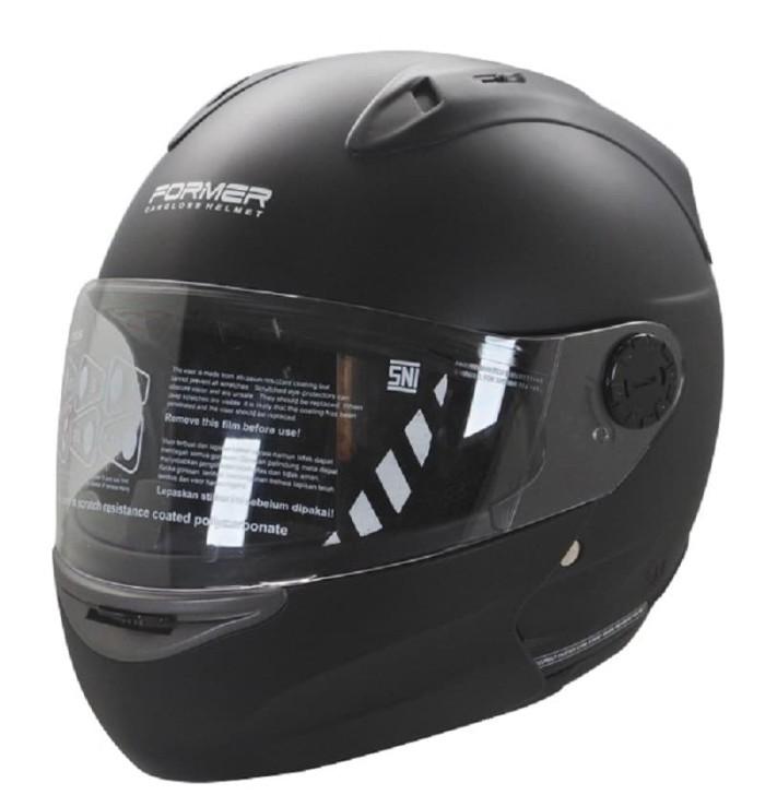 harga Cargloss devil former flip up horn helm modular full face - black doff - size m Tokopedia.com