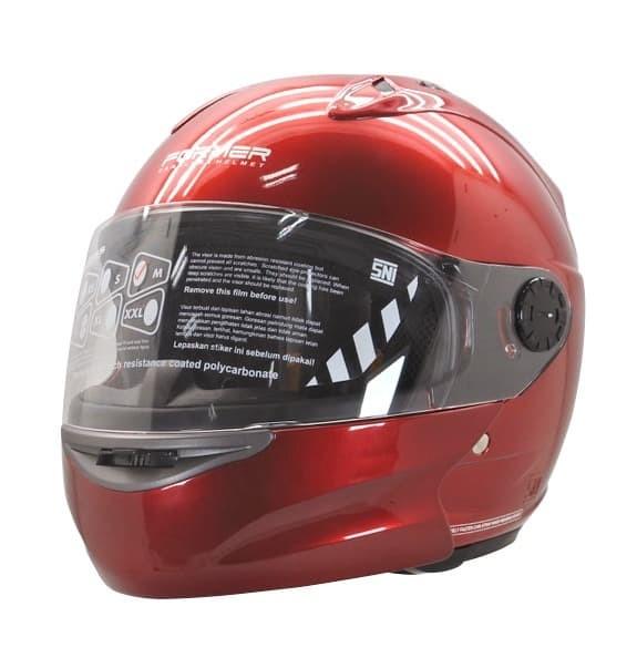 harga Cargloss devil former flip up horn helm modular full face - deep red - maroon size xl Tokopedia.com