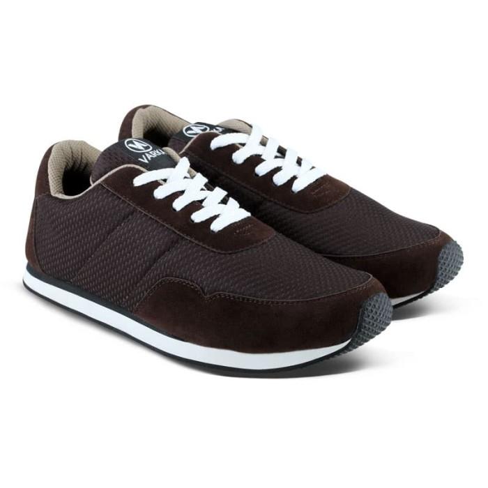 Sepatu Sneakers Pria Wanita Varka V 092 Sepatu Sneakers Kasual Joging - Cokelat, 38 - Blanja.com