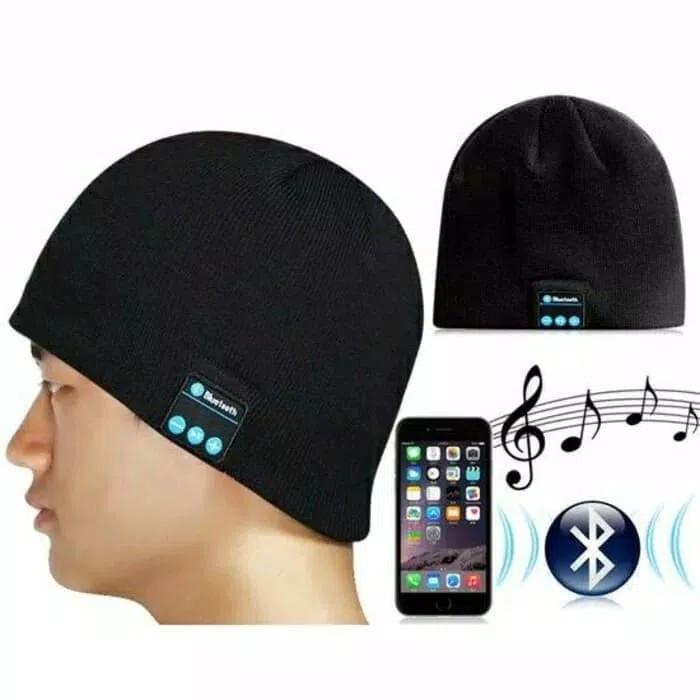 harga Topi kupluk bluetooth handsfree headset bluetooth wireless Tokopedia.com