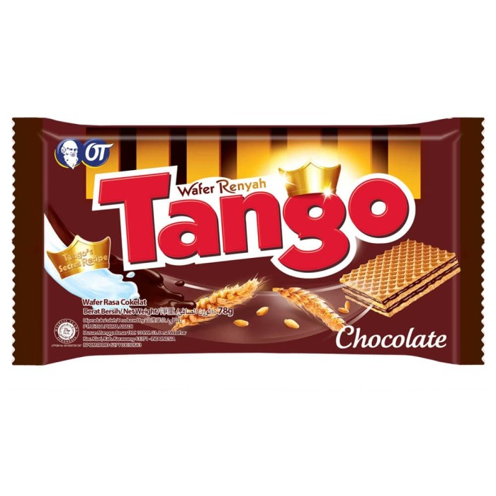 Wafer tango chocolate 78gr - isi 3pcs