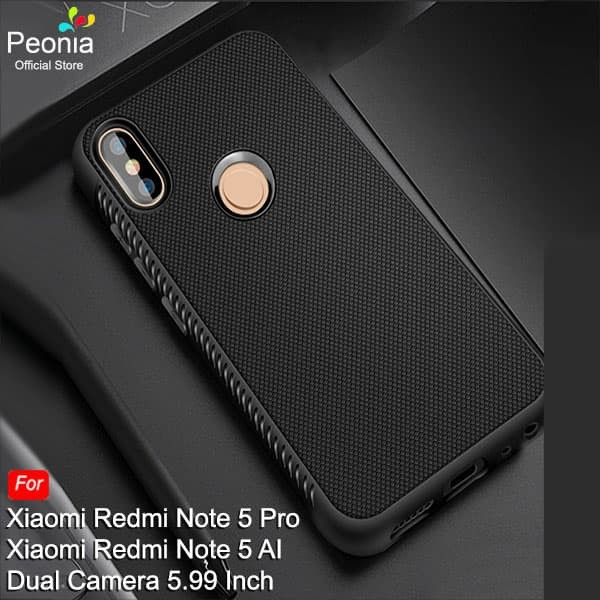 Peonia Anti Slip Ultraslim Hybrid Case for Xiaomi Redmi Note 5 Pro Ai - Hitam