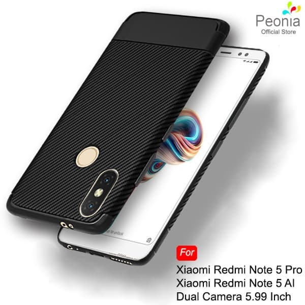 sneakers for cheap 68488 79395 Jual Peonia Synthetic Carbon Case Xiaomi Redmi Note 5 Pro Ai Dual Camera -  Hitam - Kota Bekasi - Peonia Official Store - OS | Tokopedia