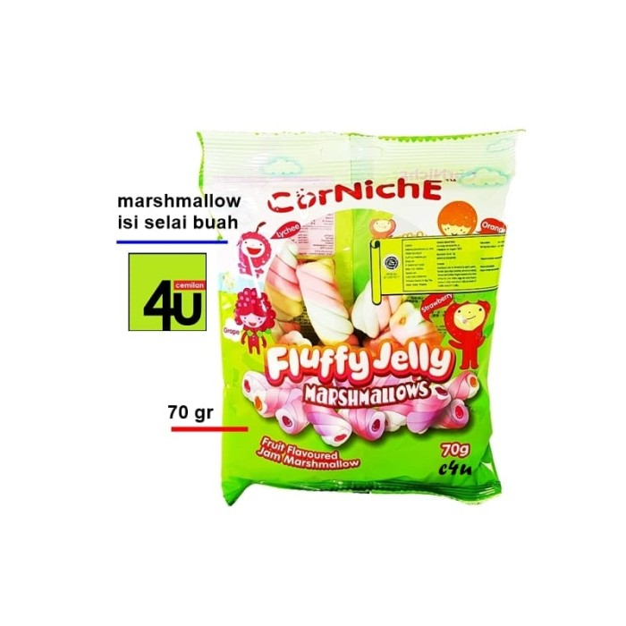 Corniche - Fluffy Jelly Marshmallows - 70 Gr - Blanja.com