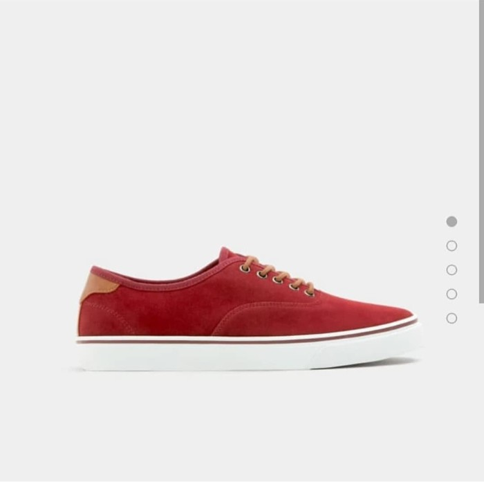 ORIGINAL with TAG Pull and Bear Basic Maroon Urban Sneaker - ,