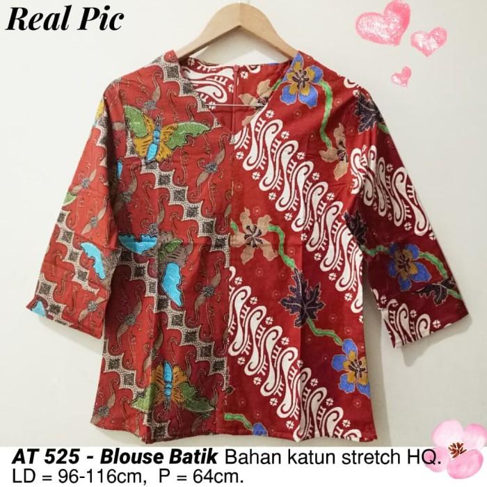 harga Blouse batik modern atasan etnik cewek cantik baju wanita kantor murah  Tokopedia.com c67bb3bb43