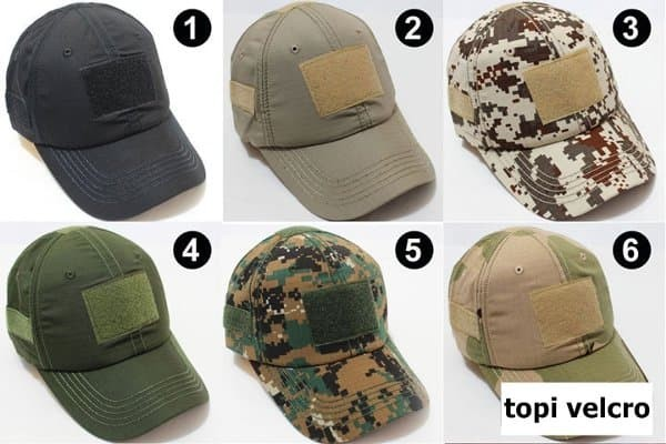 Jual MURAH topi velcro army tactical camouflage military outdoor ... 55e3567483
