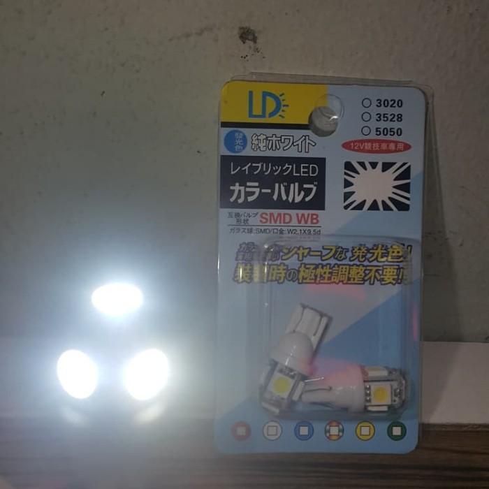 Foto Produk Led T10 5 mata 5050 lampu senja - Biru dari tsjiam tsjiam