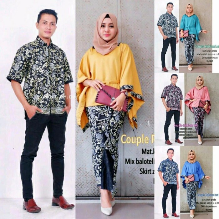 Jual Best Model Baju Sarimbit Batik Couple Kebaya Modern Jakarta Selatan White Roses Tokopedia