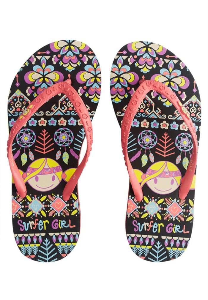 harga Surfer girl dreamcatcher heel kids sandal black 17dcmkfsn02blk - 25 hitam Tokopedia.com