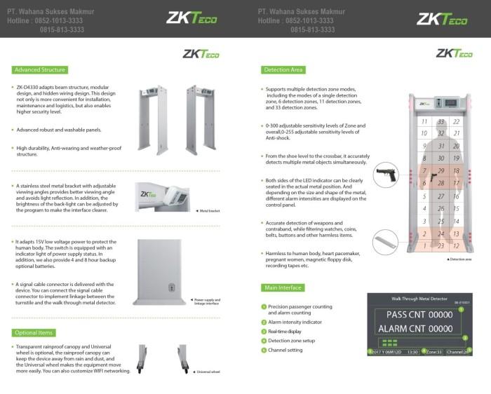 Jual Metal Detector Walk Through 33 Zone ZK D4330 - DKI Jakarta -  wahanasukses | Tokopedia