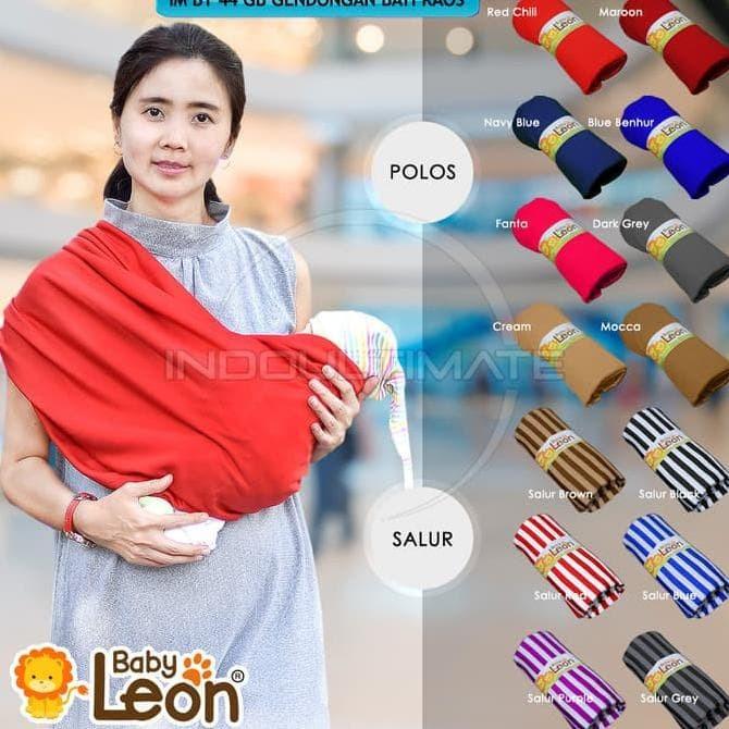 Baby LEON Gendongan Bayi Kaos Geos Baby Selendang Praktis BY 44 GB .