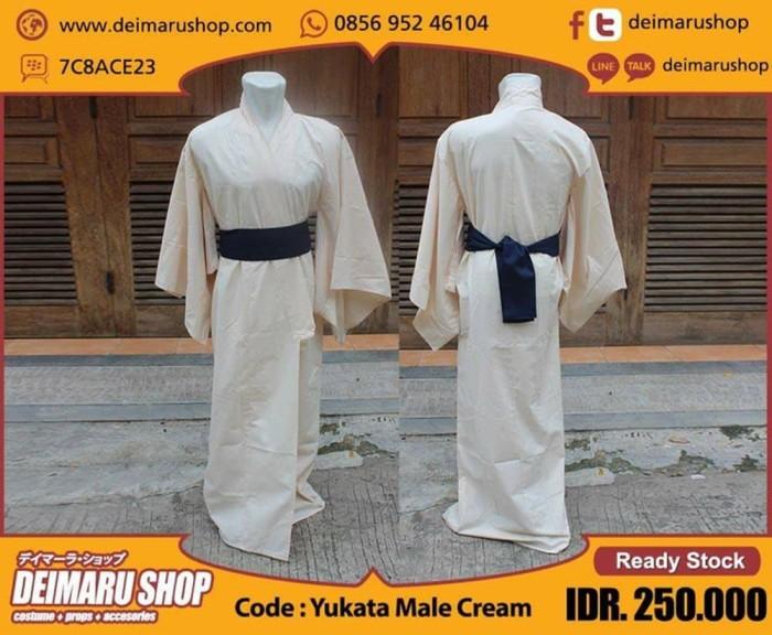 harga Yukata pria kimono pakaian tradisional jepang - yukata male sea blue Tokopedia.com