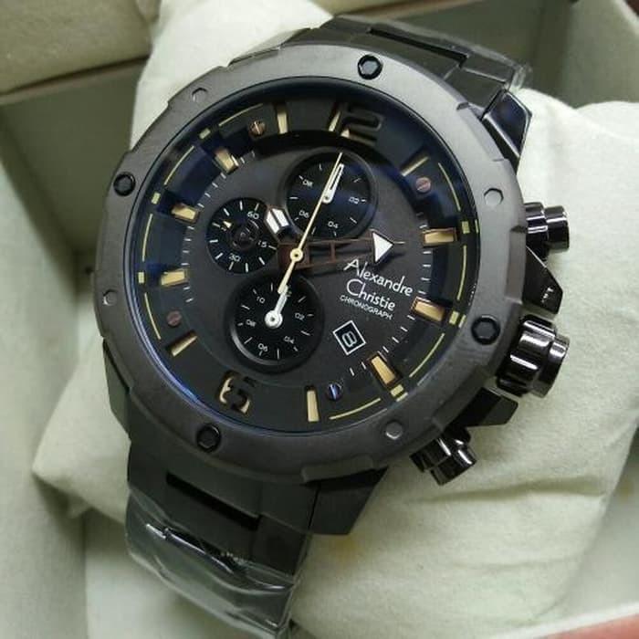 Limited AC6410 HITAM jam tangan pria Original Alexandre Christie AC 6