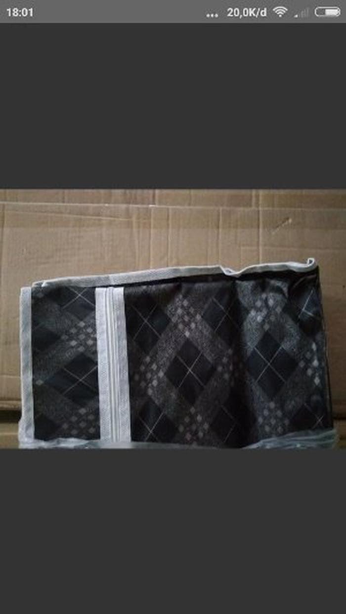 TERLARIS RAK SEPATU KAIN OXFORD 10 SUSUN 2KG RS10 OX BLACK GOL Limited