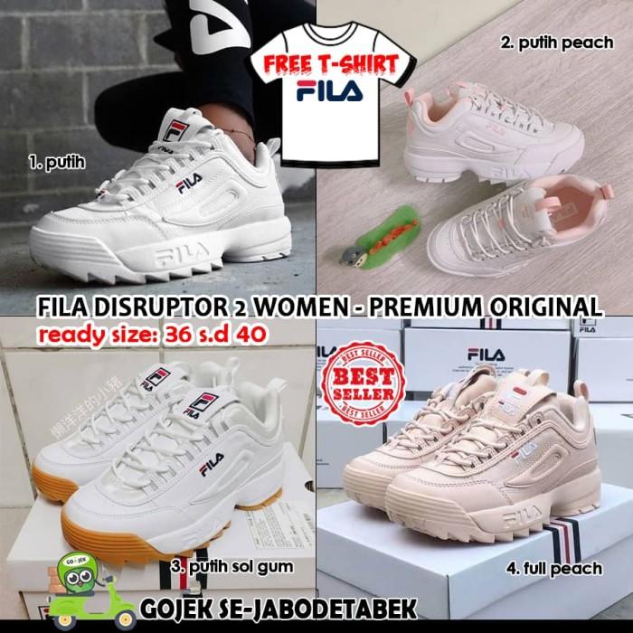 Jual FILA DISRUPTOR 2 WOMEN PREMIUM ORIGINAL. sepatu fila women ... 3d11a144d7