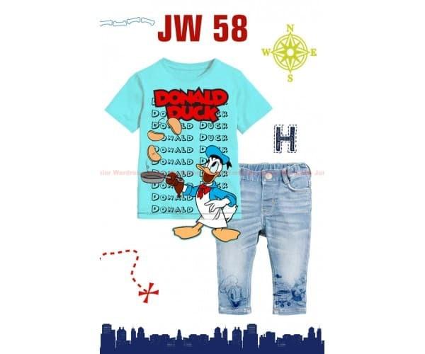 Jual JW 58 H Donald Duck Set Jeans - Kab  Lamongan - VIVI MENIK SHOP |  Tokopedia