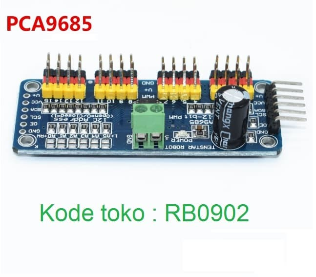 harga Modul driver motor servo 16channel pca 9685 i2c 12-bit pwm arduino Tokopedia.com
