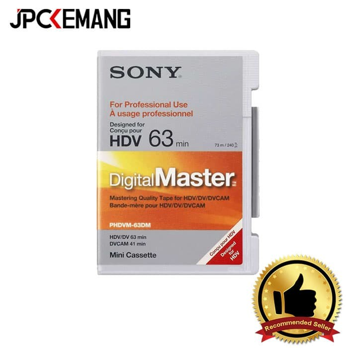 harga Sony phdvm63dm digitalmaster mini 63 min hdv Tokopedia.com
