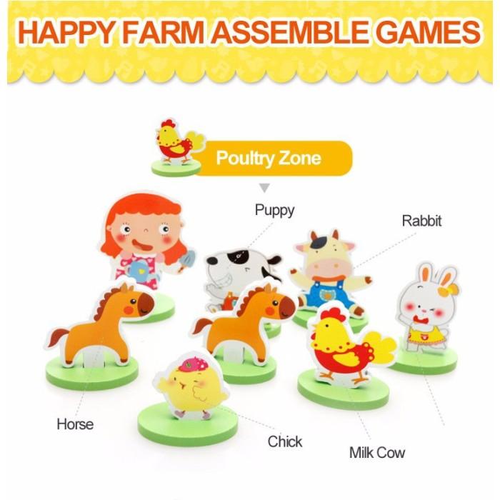 Nixnox Mainan Edukasi 3D Puzzle Happy Farm