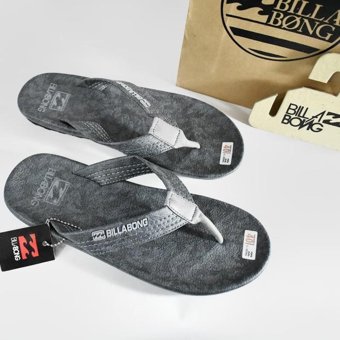Sandal sendal fashion pria handmade billabong - Abu Abstract, 42