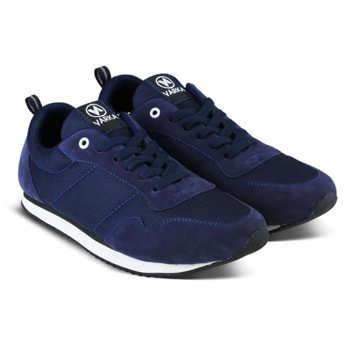 Sepatu Sneakers Pria Varka V 462 Sepatu Joging Kets Kasual Olahraga - Navy 4e6da69942