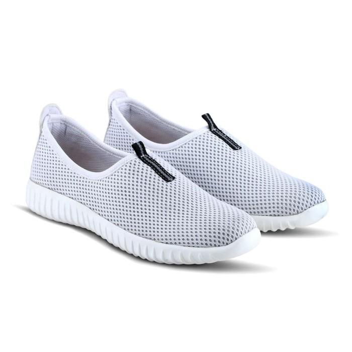 Sepatu Sneakers Wanita Varka V 383 Sepatu Slip On Casual Flat Santai - Putih, 36 - Blanja.com