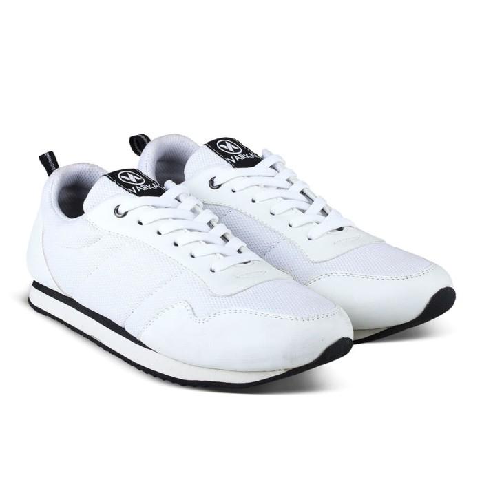 Sepatu Sneakers Pria Varka V 463 Sepatu Joging Kets Kasual Olahraga -  Putih 6b81c58588