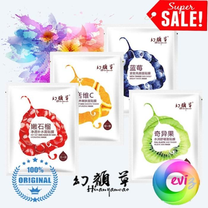 Huanyancao Moist Bright Skin Fruit Mask - Masker Wajah Good Material
