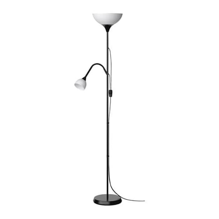 IKEA NOT, Lampu lantai sorot atas/bawah lampu baca hitam / putih