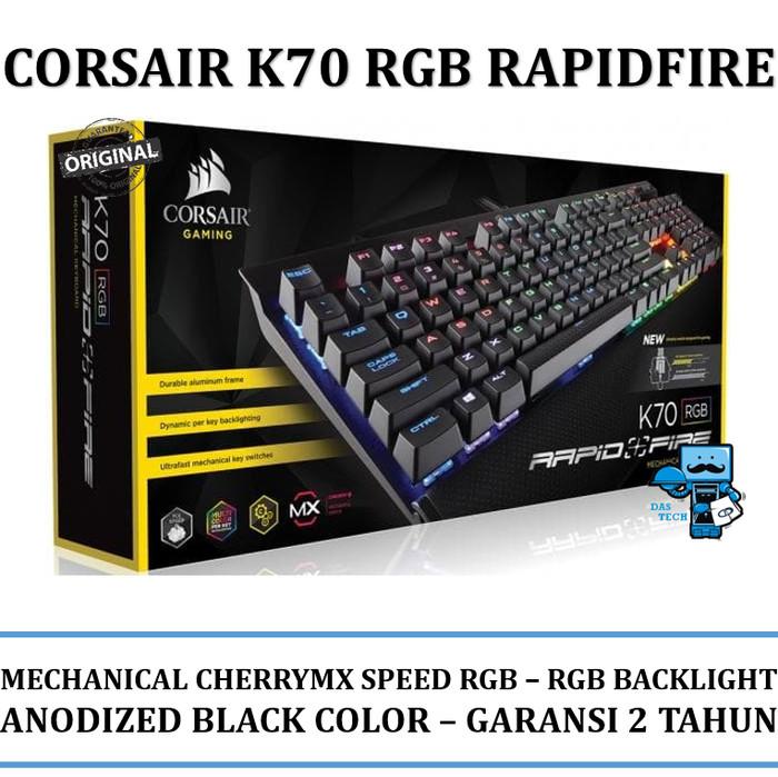 harga Keyboard gaming corsair k70 rgb rapidfire cherry mx speed rgb Tokopedia.com