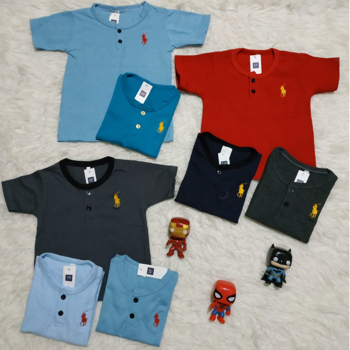 harga Kaos anak polo kancing 1 - 4 tahun polo button tee / atasan anak cowok Tokopedia.com