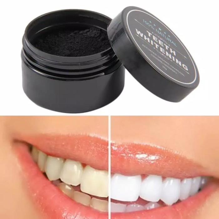 Jual Charcoal Powder Activated Teeth Pemutih Gigi Alami Bubuk Arang
