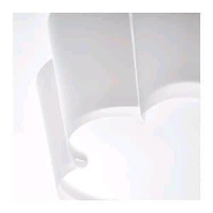 IKEA LYSBOJ lampu plafon putih