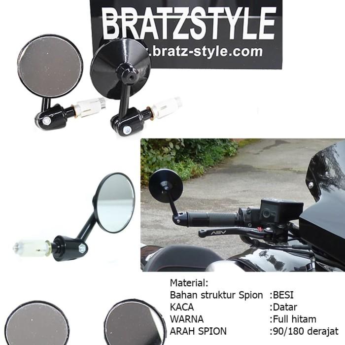 harga Yamaha honda kawasaki spion jalu lipat black bratzstyle japstyle Tokopedia.com