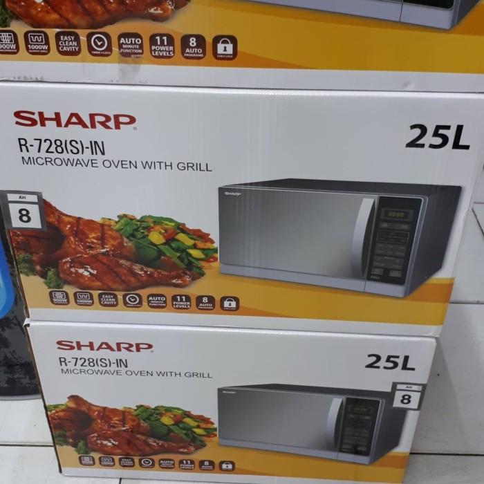 ... Microwave SHARP R 728 IN SHARP R728 S W B Grill 25 Liter 1000w