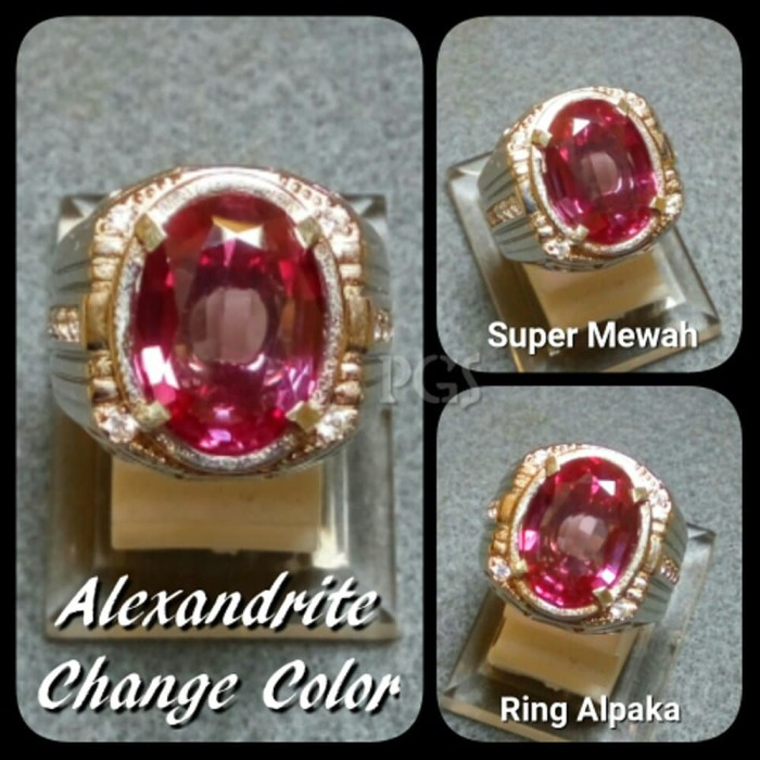 harga Cincin batu akik permata alexandrite color change ring alpaka big size Tokopedia.com