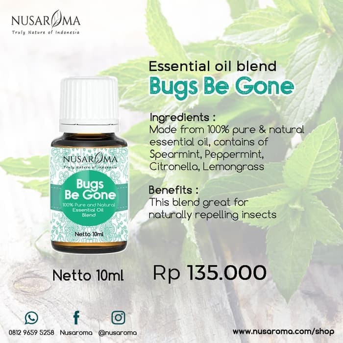 Foto Produk Bugs Be Gone Essential Oil Blend 10ml |100% Pure & Natural dari vanshop88