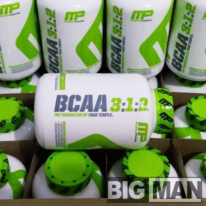 Supplemen MUSCLE PHARM MP BCAA 3:1:2 240 Capsules