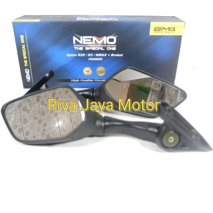 Kaca spion model r25 carbon sb pendek universal nmax xmax ninja r15 dl