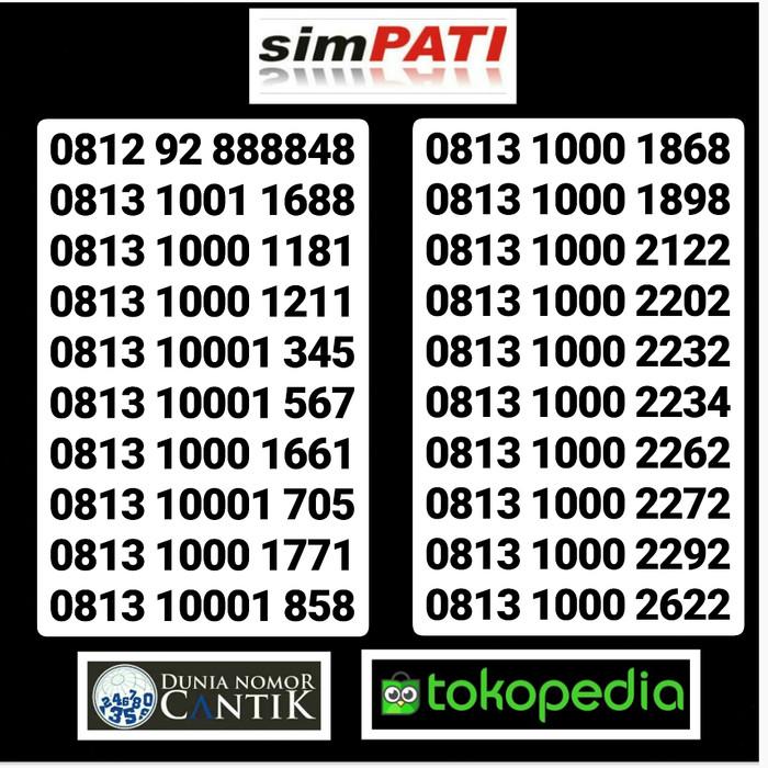 Nomor Cantik Simpati 4G Kartu Perdana Simpati Telkomsel