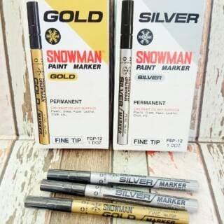 Foto Produk Spidol snowman silver white gold marker putih emas fine tip dari Sanjaya Stationary